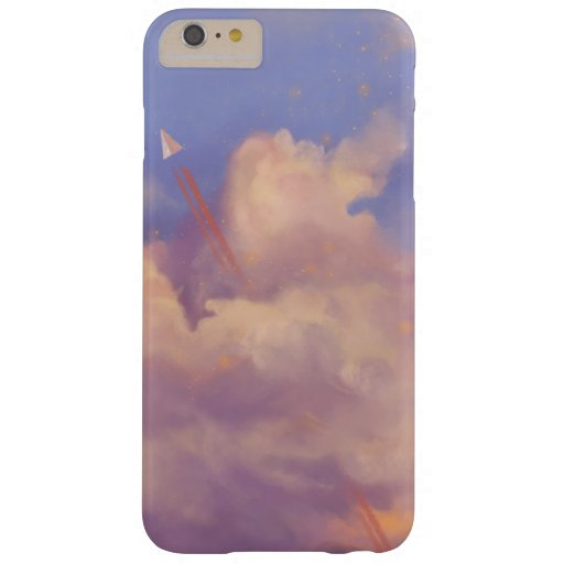 Cloudy day with a small paper airplane barely there iPhone 6 plus case