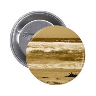 Cloudy Day's-Hermosa Beach Ca_ Pinback Button