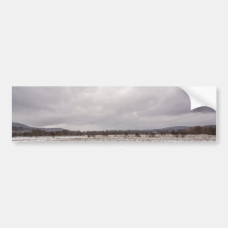Cloudy Field on a Cold Spring Day Bumper Sticker