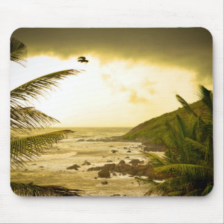 Cloudy Goa Beach Mouse Pad