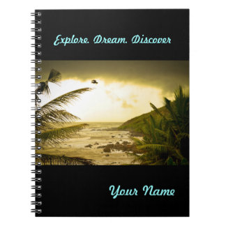 Cloudy Goa Beach Notebook