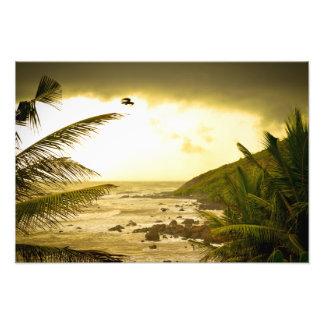 Cloudy Goa Beach Photo Print