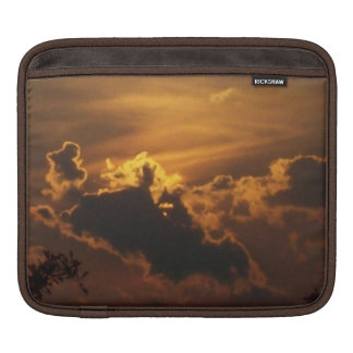 Cloudy Golden Sunset Rural Nature Photo Sleeve For iPads