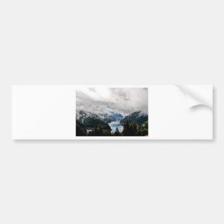 Cloudy Lake Bumper Sticker
