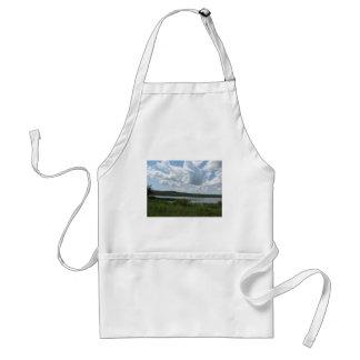 Cloudy Lake Over Henryetta Adult Apron