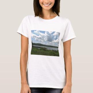 Cloudy Lake Over Henryetta T-Shirt