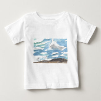 Cloudy landscape baby T-Shirt