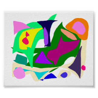 Cloudy Many Colors Thoughts Going Out Poster