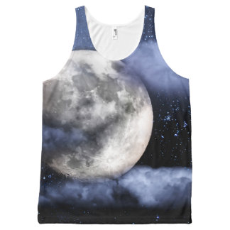 Cloudy Moon All-Over-Print Tank Top