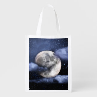 Cloudy Moon Grocery Bag