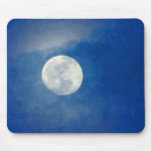 Cloudy Moon Painting Mouse Pad