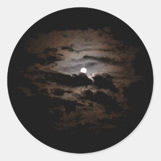 Cloudy Moon Sticker