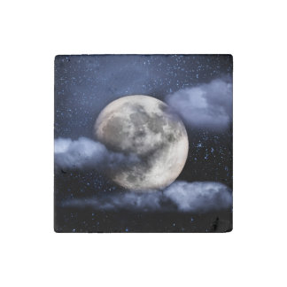 Cloudy Moon Stone Magnet