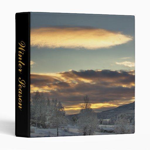 Cloudy Mothership Vinyl Binder