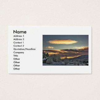 Cloudy Mothership Business Card