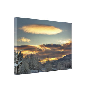 Cloudy Mothership Canvas Print