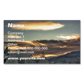 Cloudy Mothership Magnetic Business Card