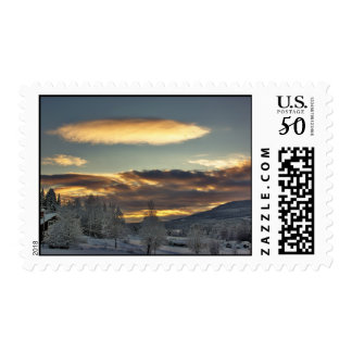 Cloudy Mothership Postage