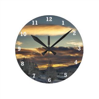 Cloudy Mothership Round Clock