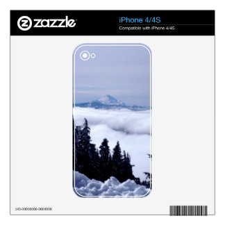 Cloudy Mountain Decals For The iPhone 4S