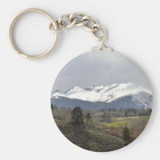cloudy mountain keychain