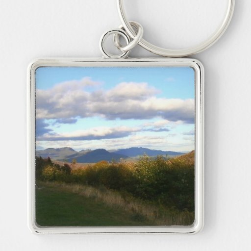 Cloudy Mountain Skies Keychains