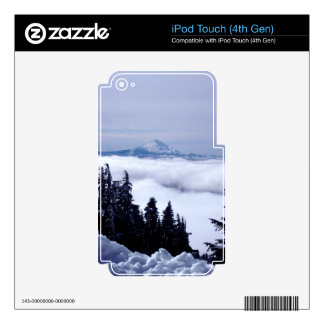 Cloudy Mountain Skins For iPod Touch 4G