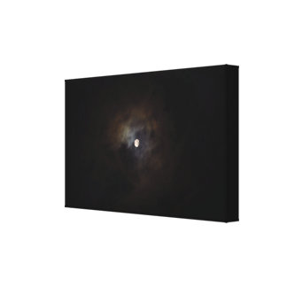 Cloudy Night Moon Canvas Print