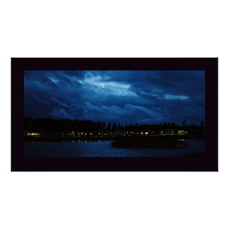 Cloudy night poster