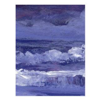 Cloudy Night Sea - CricketDiane Ocean Art Postcard