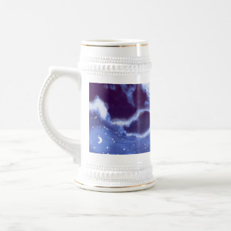 Cloudy Night Sky Stein Coffee Mugs