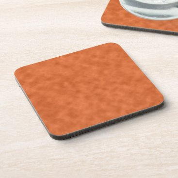 Halloween Themed Cloudy Orange and Gray Abstract Pattern Drink Coaster