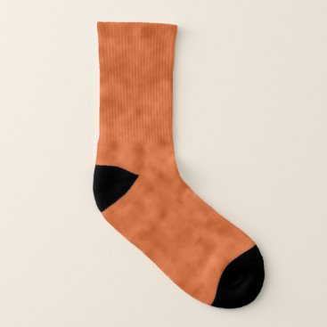 Halloween Themed Cloudy Orange and Gray (Grey) Abstract Pattern Socks