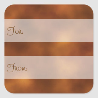 Cloudy Orange Gift Tag Stickers
