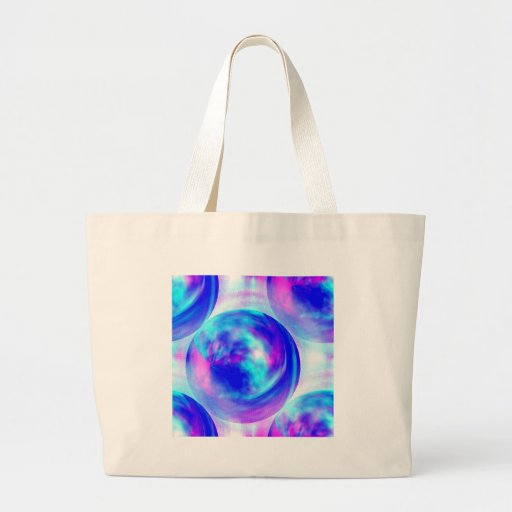 Cloudy Orbs Tote Bags