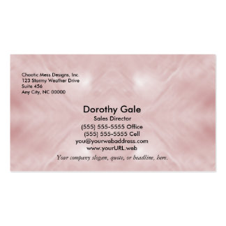 Cloudy Pink Abstract Business Card