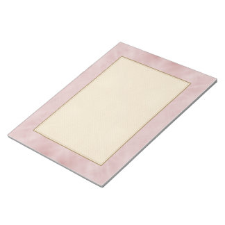 Cloudy Pink Abstract Notepad