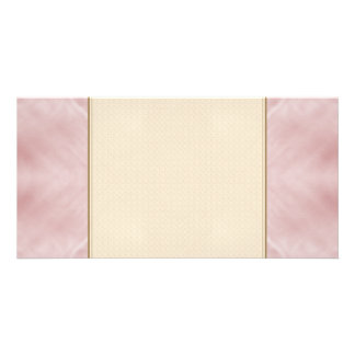 Cloudy Pink Abstract Custom Photo Card