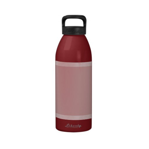 Cloudy Pink Abstract Reusable Water Bottles