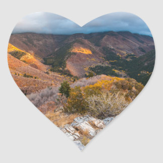 Cloudy Provo Peak Sunset - Utah Heart Sticker