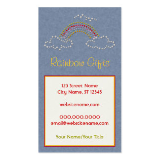 Cloudy Rainbow Double-Sided Standard Business Cards (Pack Of 100)