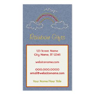 Cloudy Rainbow Business Card Templates