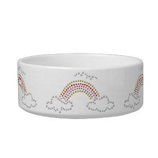 Cloudy Rainbow Cat Food Bowls