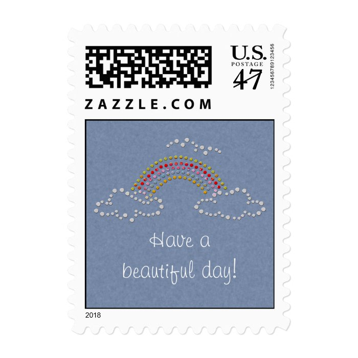 Cloudy Rainbow Postage Stamp