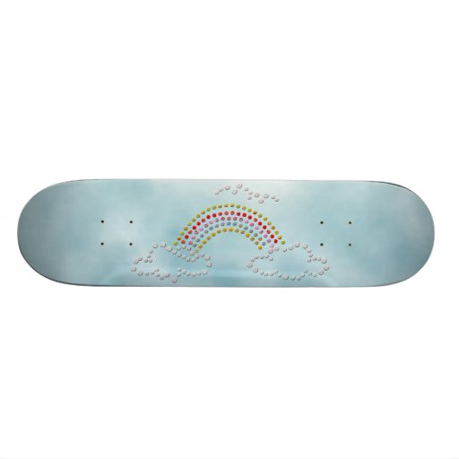 Cloudy Rainbow Skate Decks