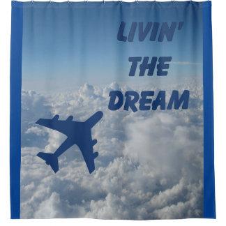 Airplane Pilot Shower Curtains | Zazzle