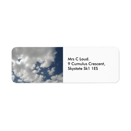 Cloudy Skies Custom Labels