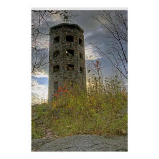 Cloudy Skies over Enger Tower Print