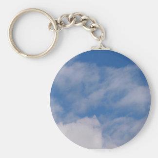 Cloudy Sky Basic Round Button Keychain