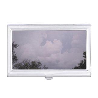 Cloudy Sky Business Card Case